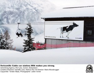 Swissmilk cable car ad