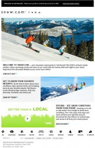 Epic Vail Resorts emailing 2016